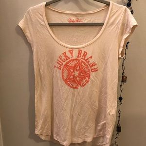 Lucky Brand distressed sand dollar graphic tee